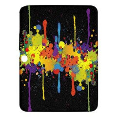 Crazy Multicolored Double Running Splashes Horizon Samsung Galaxy Tab 3 (10 1 ) P5200 Hardshell Case  by EDDArt