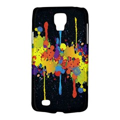 Crazy Multicolored Double Running Splashes Horizon Galaxy S4 Active by EDDArt