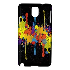 Crazy Multicolored Double Running Splashes Horizon Samsung Galaxy Note 3 N9005 Hardshell Case by EDDArt