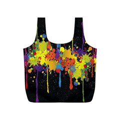 Crazy Multicolored Double Running Splashes Horizon Full Print Recycle Bags (s)  by EDDArt