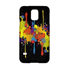 Crazy Multicolored Double Running Splashes Horizon Samsung Galaxy S5 Hardshell Case  by EDDArt