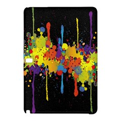 Crazy Multicolored Double Running Splashes Horizon Samsung Galaxy Tab Pro 10 1 Hardshell Case by EDDArt