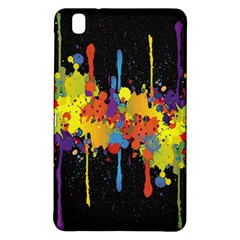Crazy Multicolored Double Running Splashes Horizon Samsung Galaxy Tab Pro 8 4 Hardshell Case by EDDArt