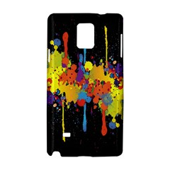Crazy Multicolored Double Running Splashes Horizon Samsung Galaxy Note 4 Hardshell Case by EDDArt