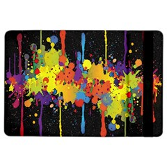 Crazy Multicolored Double Running Splashes Horizon Ipad Air 2 Flip by EDDArt