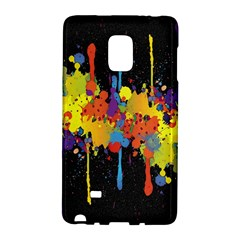 Crazy Multicolored Double Running Splashes Horizon Galaxy Note Edge by EDDArt