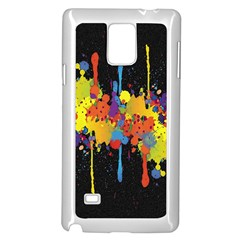 Crazy Multicolored Double Running Splashes Horizon Samsung Galaxy Note 4 Case (white) by EDDArt