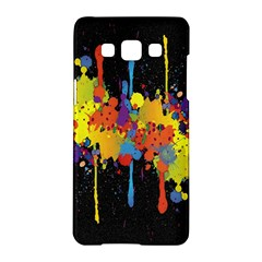 Crazy Multicolored Double Running Splashes Horizon Samsung Galaxy A5 Hardshell Case  by EDDArt