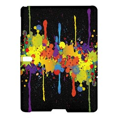Crazy Multicolored Double Running Splashes Horizon Samsung Galaxy Tab S (10 5 ) Hardshell Case  by EDDArt