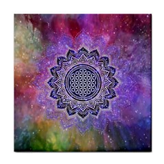 Flower Of Life Indian Ornaments Mandala Universe Tile Coasters by EDDArt