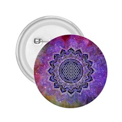 Flower Of Life Indian Ornaments Mandala Universe 2 25  Buttons