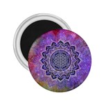 Flower Of Life Indian Ornaments Mandala Universe 2.25  Magnets Front