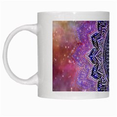 Flower Of Life Indian Ornaments Mandala Universe White Mugs