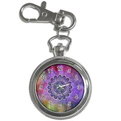 Flower Of Life Indian Ornaments Mandala Universe Key Chain Watches by EDDArt