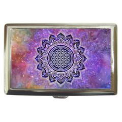 Flower Of Life Indian Ornaments Mandala Universe Cigarette Money Cases by EDDArt