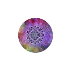 Flower Of Life Indian Ornaments Mandala Universe Golf Ball Marker by EDDArt