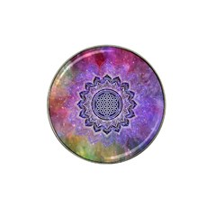 Flower Of Life Indian Ornaments Mandala Universe Hat Clip Ball Marker (4 Pack) by EDDArt