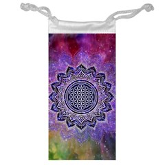 Flower Of Life Indian Ornaments Mandala Universe Jewelry Bags by EDDArt