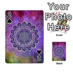 Flower Of Life Indian Ornaments Mandala Universe Playing Cards 54 Designs  by EDDArt