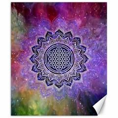 Flower Of Life Indian Ornaments Mandala Universe Canvas 20  X 24   by EDDArt