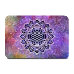 Flower Of Life Indian Ornaments Mandala Universe Plate Mats by EDDArt