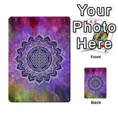 Flower Of Life Indian Ornaments Mandala Universe Multi Purpose Cards (rectangle)  by EDDArt