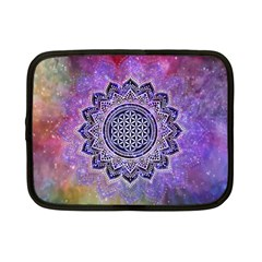 Flower Of Life Indian Ornaments Mandala Universe Netbook Case (small)  by EDDArt