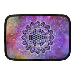 Flower Of Life Indian Ornaments Mandala Universe Netbook Case (medium)  by EDDArt