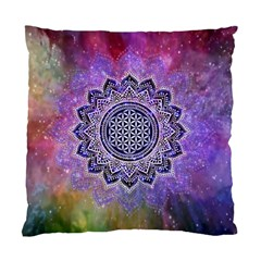 Flower Of Life Indian Ornaments Mandala Universe Standard Cushion Case (two Sides) by EDDArt