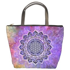 Flower Of Life Indian Ornaments Mandala Universe Bucket Bags