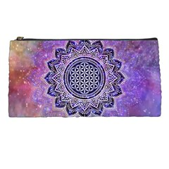 Flower Of Life Indian Ornaments Mandala Universe Pencil Cases by EDDArt