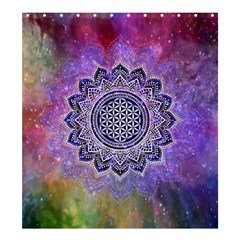 Flower Of Life Indian Ornaments Mandala Universe Shower Curtain 66  X 72  (large)  by EDDArt