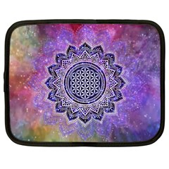 Flower Of Life Indian Ornaments Mandala Universe Netbook Case (xxl)  by EDDArt
