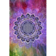 Flower Of Life Indian Ornaments Mandala Universe 5 5  X 8 5  Notebooks by EDDArt