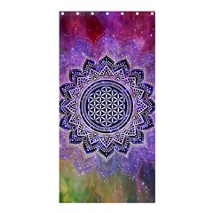 Flower Of Life Indian Ornaments Mandala Universe Shower Curtain 36  X 72  (stall)  by EDDArt