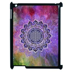 Flower Of Life Indian Ornaments Mandala Universe Apple Ipad 2 Case (black) by EDDArt