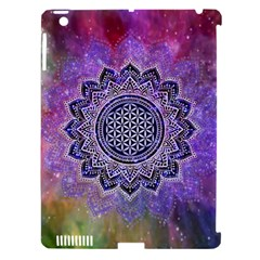 Flower Of Life Indian Ornaments Mandala Universe Apple Ipad 3/4 Hardshell Case (compatible With Smart Cover) by EDDArt