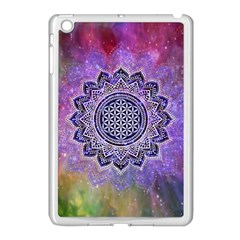 Flower Of Life Indian Ornaments Mandala Universe Apple Ipad Mini Case (white) by EDDArt