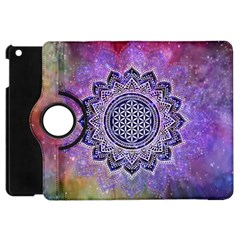 Flower Of Life Indian Ornaments Mandala Universe Apple Ipad Mini Flip 360 Case by EDDArt