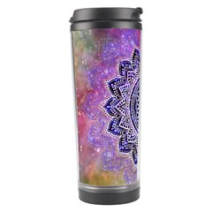 Flower Of Life Indian Ornaments Mandala Universe Travel Tumbler by EDDArt