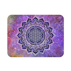 Flower Of Life Indian Ornaments Mandala Universe Double Sided Flano Blanket (mini)  by EDDArt