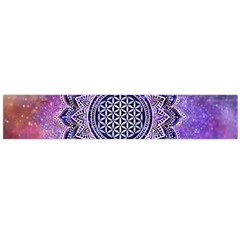 Flower Of Life Indian Ornaments Mandala Universe Flano Scarf (large) by EDDArt