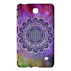 Flower Of Life Indian Ornaments Mandala Universe Samsung Galaxy Tab 4 (8 ) Hardshell Case  by EDDArt