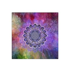 Flower Of Life Indian Ornaments Mandala Universe Satin Bandana Scarf by EDDArt