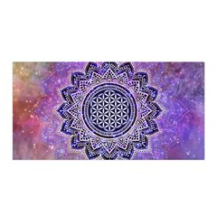 Flower Of Life Indian Ornaments Mandala Universe Satin Wrap by EDDArt