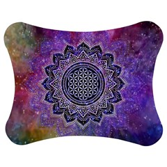 Flower Of Life Indian Ornaments Mandala Universe Jigsaw Puzzle Photo Stand (bow) by EDDArt