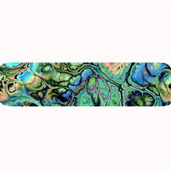 Fractal Batik Art Teal Turquoise Salmon Large Bar Mats by EDDArt