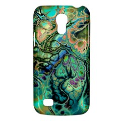 Fractal Batik Art Teal Turquoise Salmon Galaxy S4 Mini by EDDArt