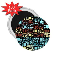Block On Block, Aqua 2 25  Magnets (100 Pack)  by MoreColorsinLife