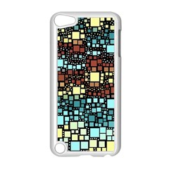 Block On Block, Aqua Apple Ipod Touch 5 Case (white) by MoreColorsinLife